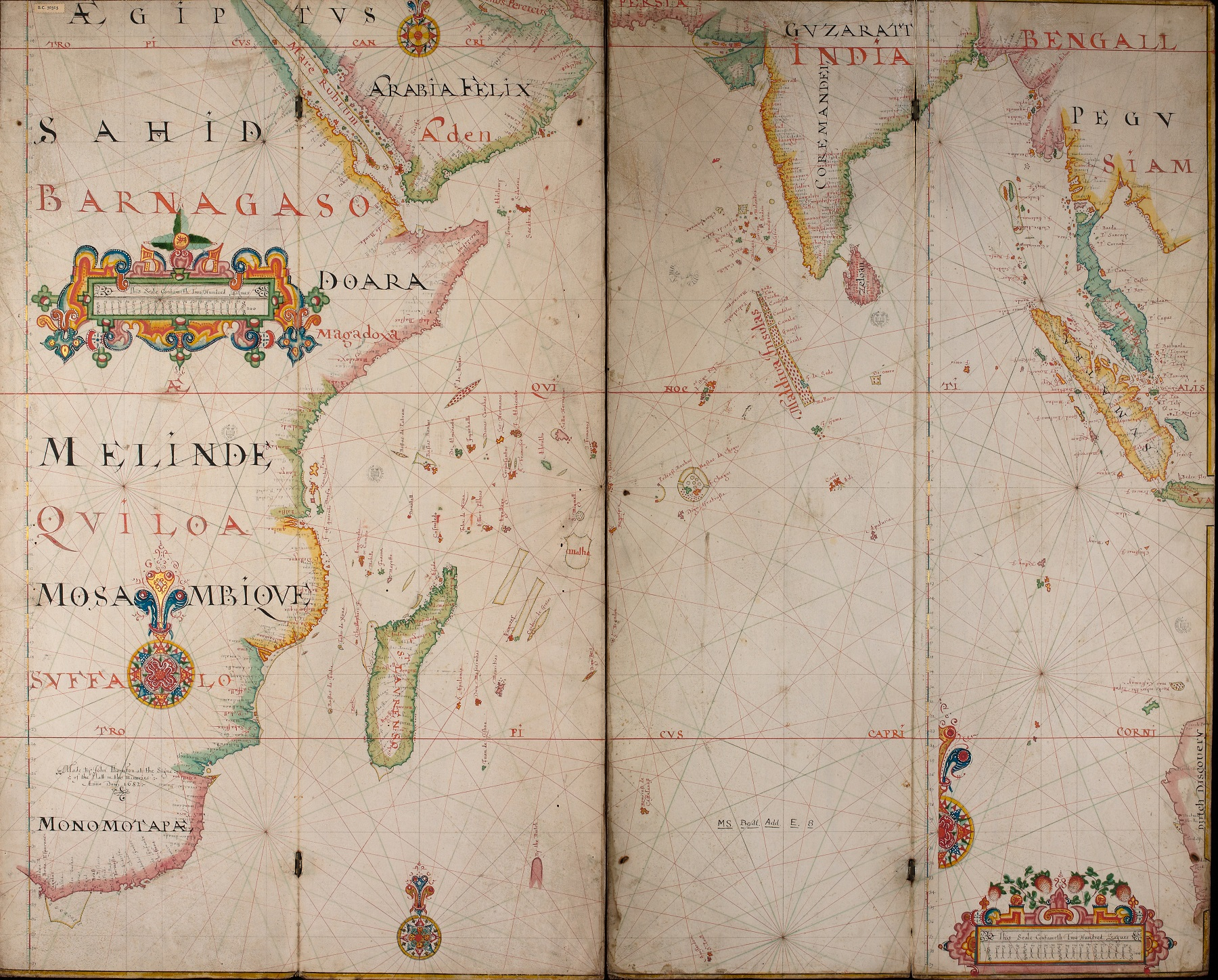 From the thames to the indian ocean bodleian map room blog made in 1682 by john thornton this is a late example of a portolan chart a navigational map hand drawn on vellum by the mid 1600s printed charts were publicscrutiny Choice Image