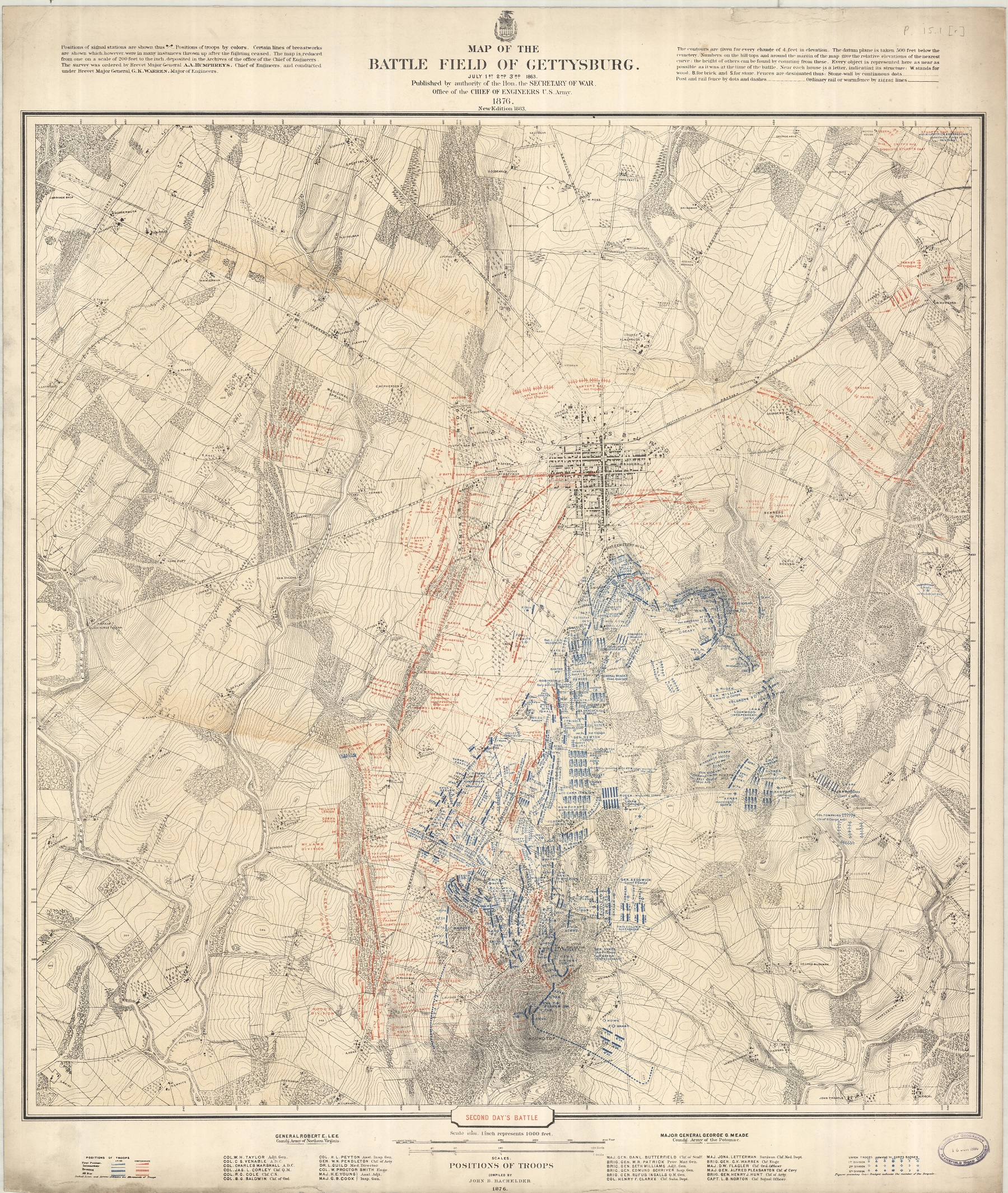 Gettysburg Topographic Map.Going Invasion And Defence Maps Bodleian Map Room Blog