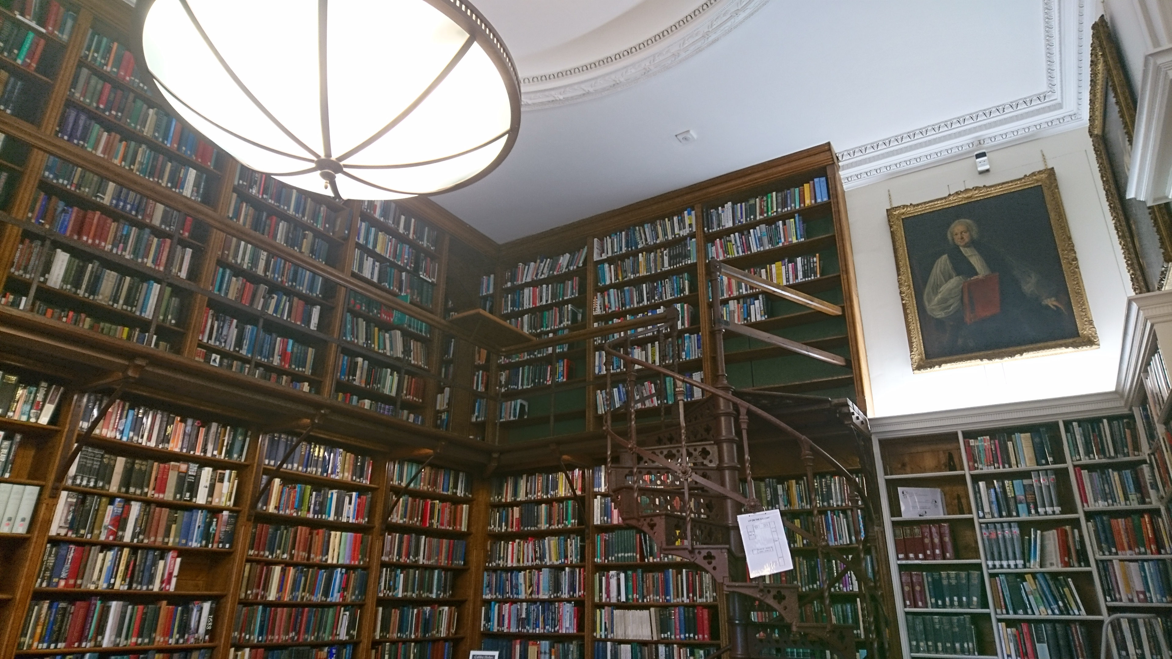 An image of a reading room at Christ Church College Library