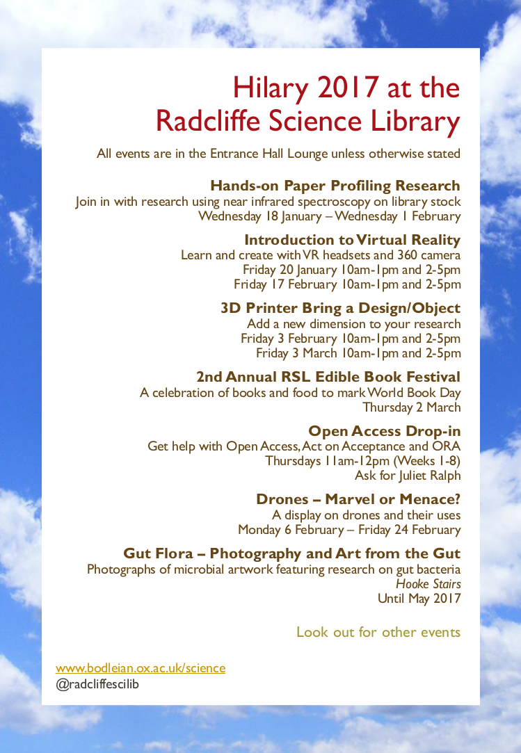Hilary at the Radcliffe Science Library flyer 2017 v.3.1