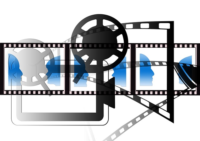 Stylised image of filme reel