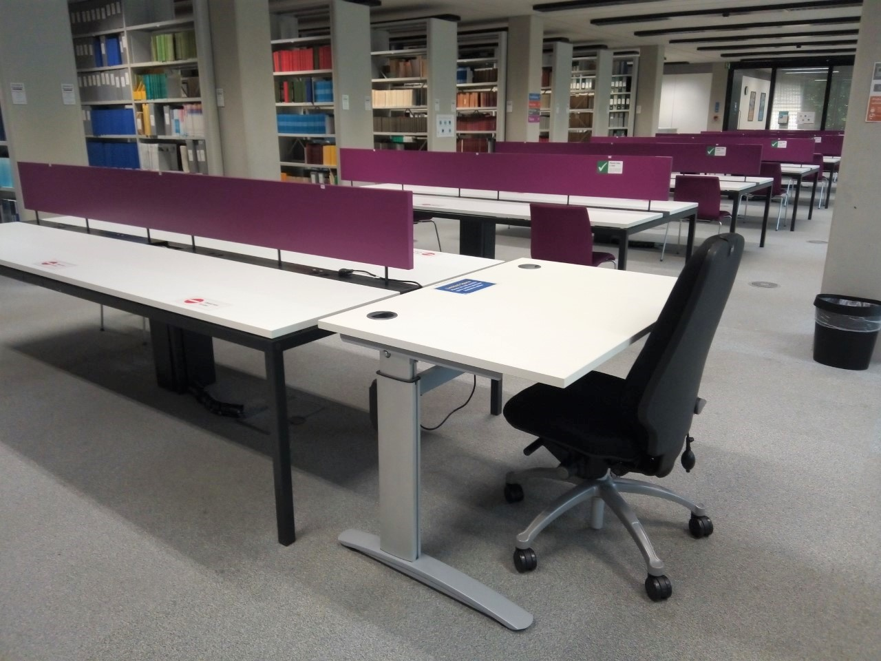 A photo of a height adjustable desk.