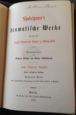 14.SchlegelTieckShakespeareÔÇÖs Werke SchlegelTieck Title Page 2 - compressed