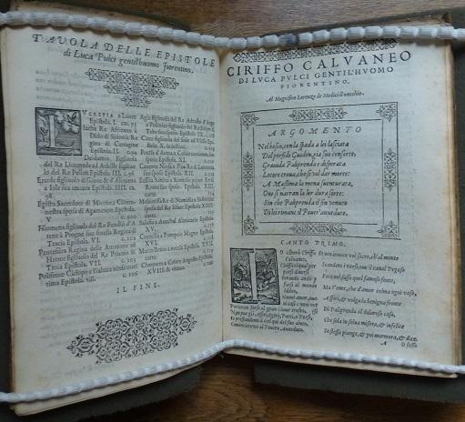 CIRIFFO CALVANEO / DI LVCA PVLCI / Gentilhuomo Fiorentino. / Con la Giostra del Magnifico Lorenzo / DE MEDICI […], Florence, Stamperia de' Giunti, 1572