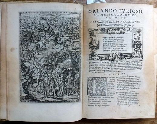 ORLANDO / FVRIOSO / DI M. / LODOVICO ARIOSTO / Nuouamente / adornato di Figure di Rame / da Girolamo Porro […], Venice, Francesco de Franceschi Senese, 1584