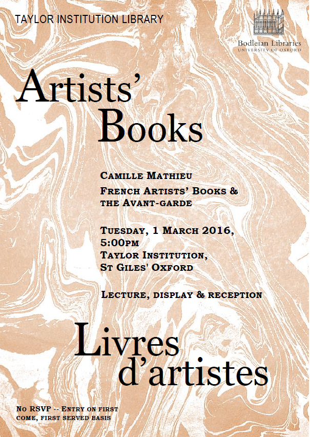 Artists' books poster