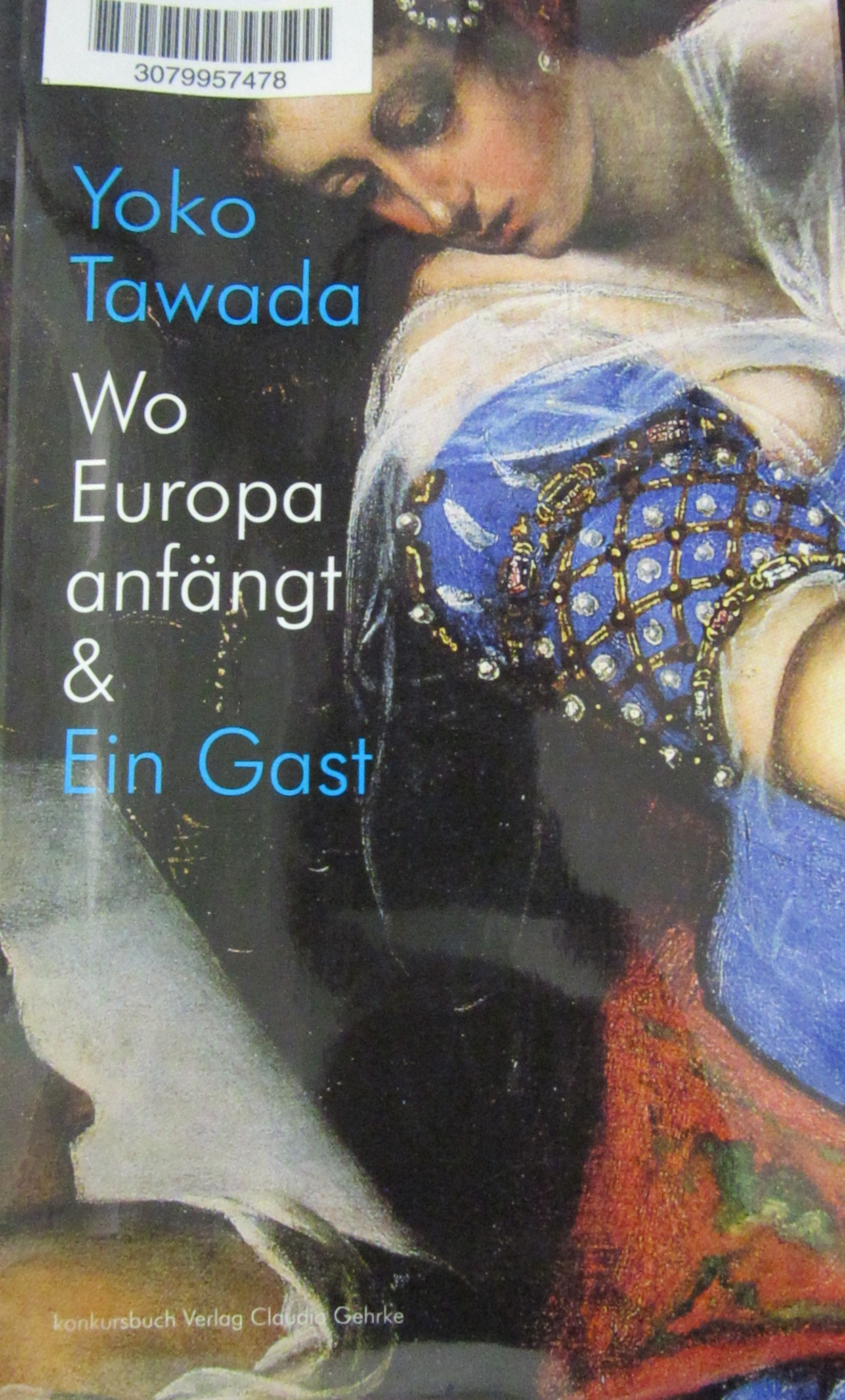 Tawada, Yōko. Wo Europa anfängt : Ein Gast : Erzählungen und Gedichte. Tübingen, 2014.
