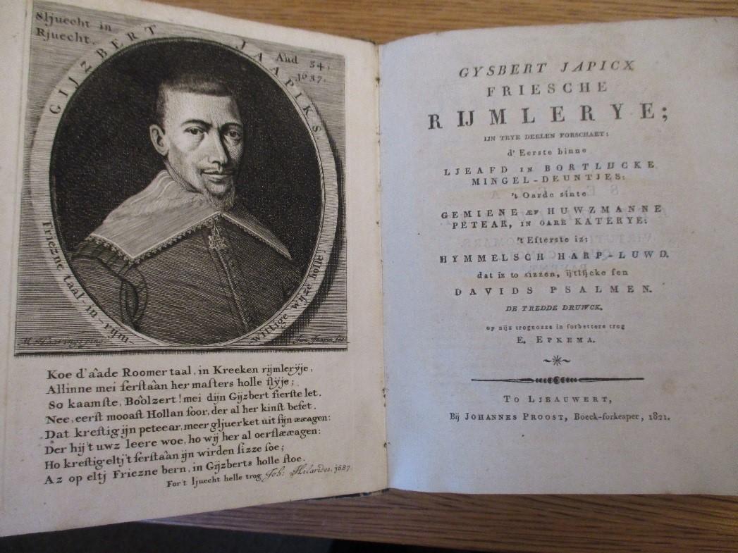 Gysbert Japicx, Friesche Rymlerye. Taylor Institution Library VET.FRIS.6