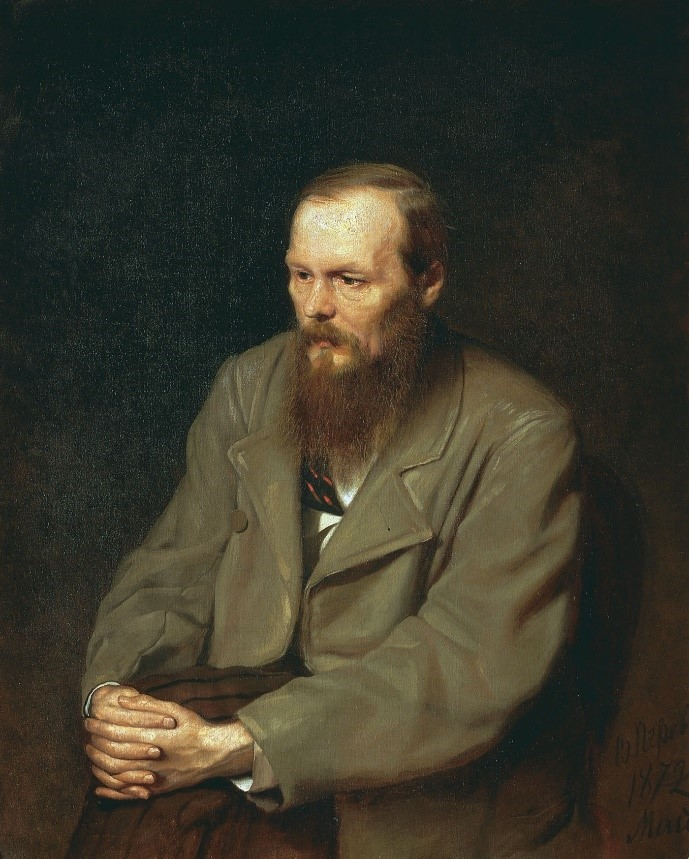 Portrait of Fyodor Dostoevsky by Vasily Perov, courtesy of Wikimedia Commons