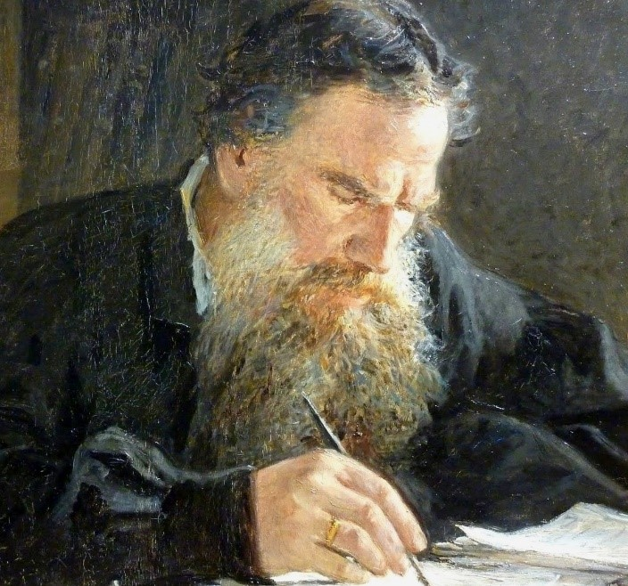 Portrait of Leo Tolstoy by Nikolai Ge, courtesy of Wikimedia Commons.