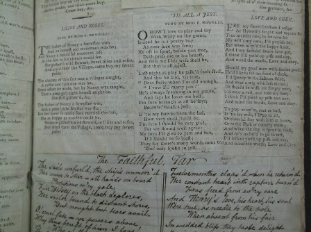 Bodleian, Harding B 41. A scrapbook of printed clippings and manuscript verse made by a young lady, Mary Marshall, in 1805.