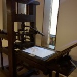 Common press (c. 18th century) in the Weston Library, Level 2.
