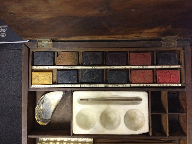"""Reeves watercolour box c. 1772 taken on The Resolution by Isaac Smith"" Museum of London 74.343/50. © Museum of London"
