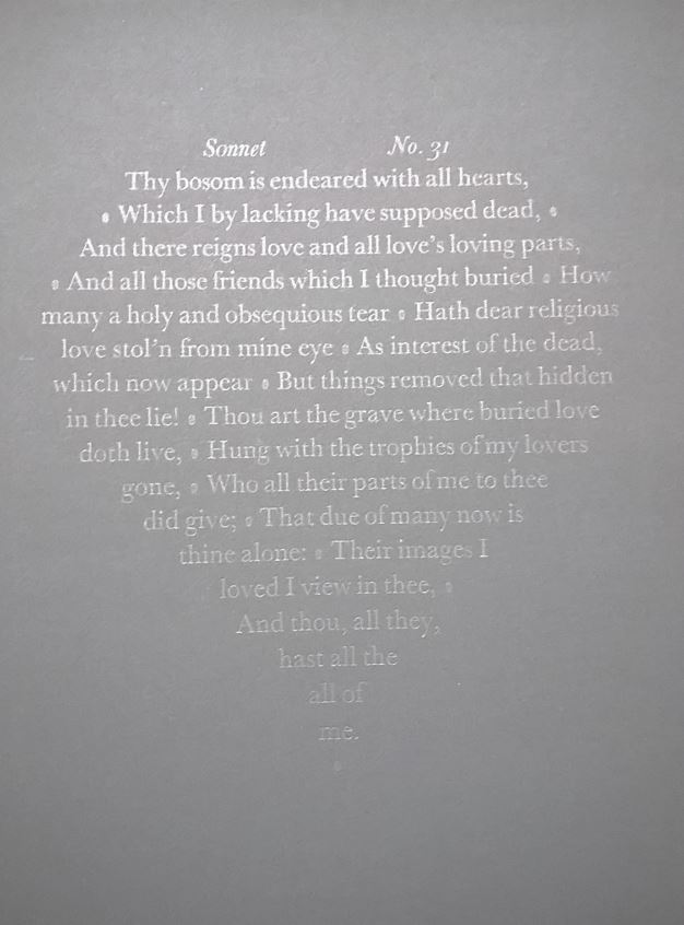 Sonnet 31, Flowers and Fleurons, Brighton, UK