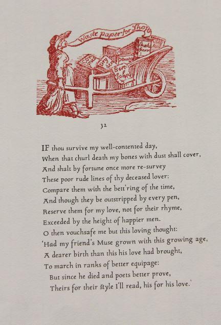Sonnet 32, Graham Moss, Incline Press, Oldham, UK
