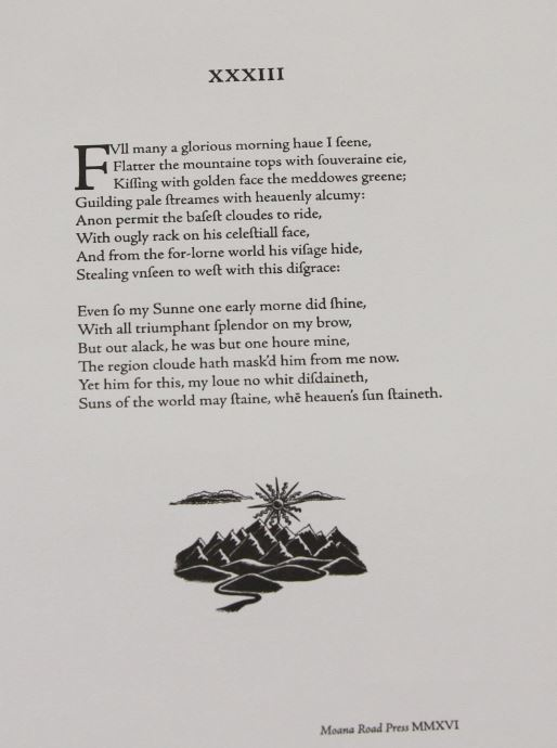 Sonnet 33, Dan Tait-Jamieson, Moana Road Press, New Zealand