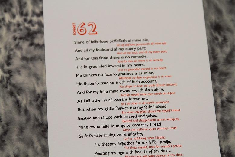 Sonnet 62, Zoe Chan, Typelark