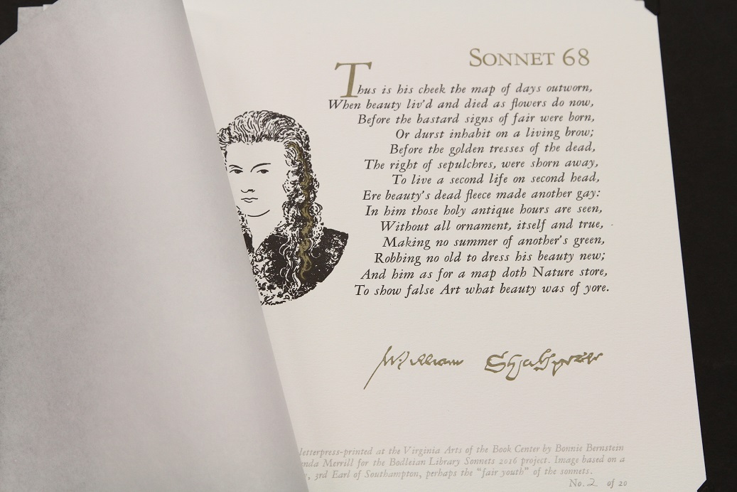 Sonnet 68, Bonnie Bernstein, Virginia Book Arts