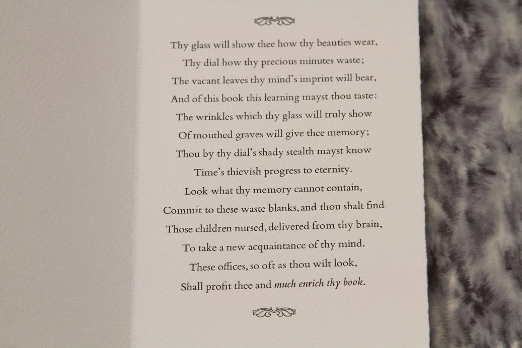 Sonnet 77, Liz Adams, Juxon Press, Oxford