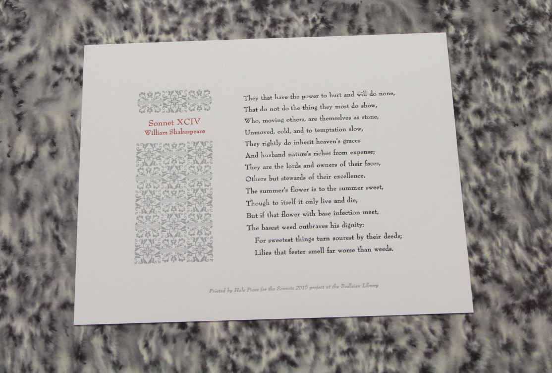 Sonnet 94, Heather Hale, Hale Press, Stowe, Vermont, USA