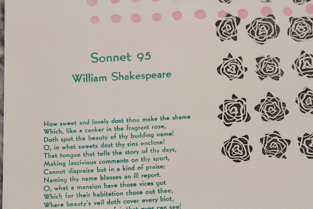 Sonnet 95, Sarah Teppen, Bone Earring Press, East Lansing, Michigan, USA