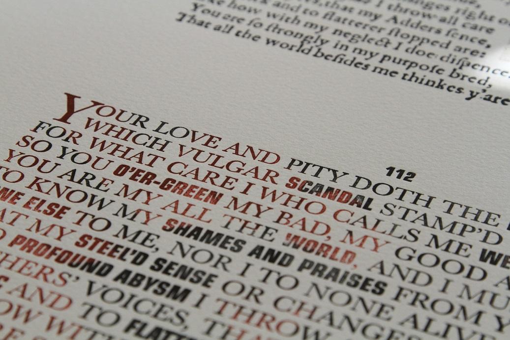 Sonnet 112, Raymond Nichols & Jill Cypher, Lead Graffiti, Newark, Delaware