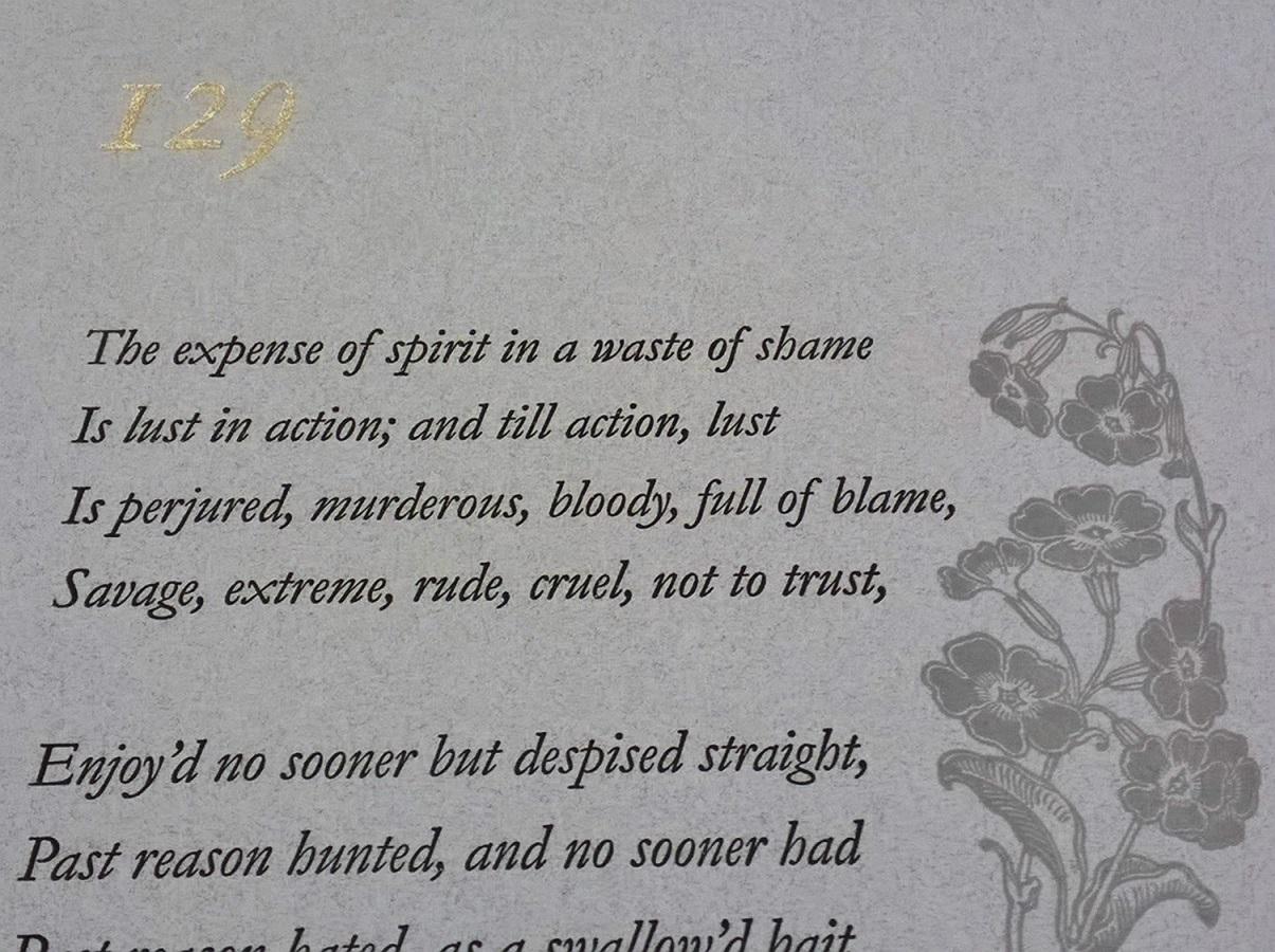 Sonnet 129, Medlar Press, Jonathan Ward-Allen, Ellesmere