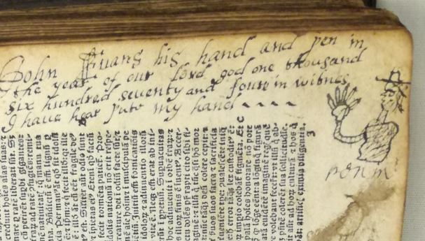 Inscription in Bodleian Inc.f.GS2.1495.1