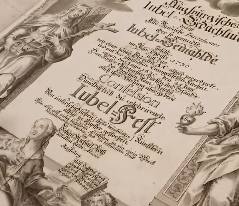 Augspurgisches Iubel-Gedächtnüs from 1730 compiled by Johann Michael Roth, Ashmolean