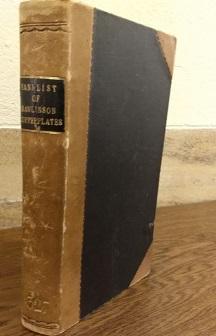 Library handlist of Rawlinson Copperplates
