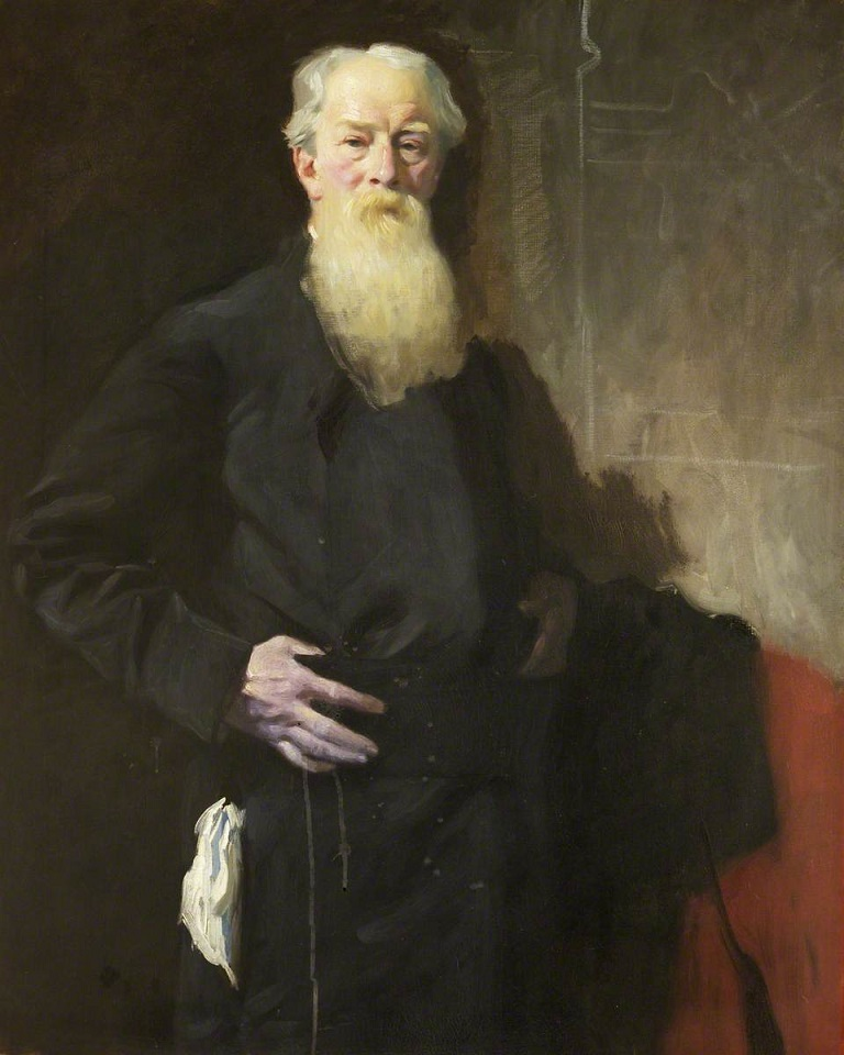 Portrait of Charles Henry Olive Daniel (1836–1919), Provost of Worcester College (1903–1919), by Charles Wellington Furse (1868–1904). Photo credit: Worcester College, University of Oxford. https://artuk.org/discover/artworks/charles-henry-olive-daniel-18361919-provost-of-worcester-college-19031919-224101#