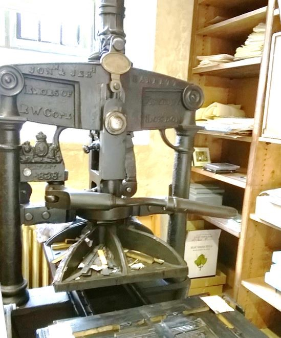 The Daniel Press Albion at the Bodleian Bibliographical Press, Old Bodleian Library