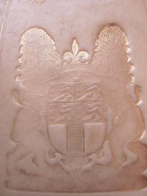 Bodleian Libraries Lawn f.567, armorial binding stamp