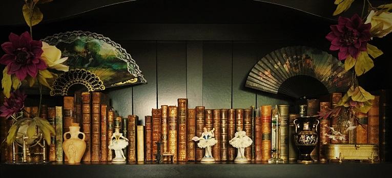 Bookshelf of book collector Jessica Leeper