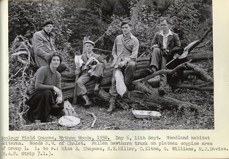 Ecology field course, Wytham Woods, 1950. (With the permission of Oxford University Museum of Natural History)