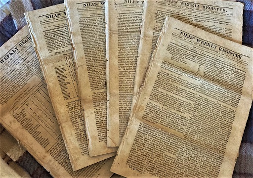 Issues of Niles' Weekly Register