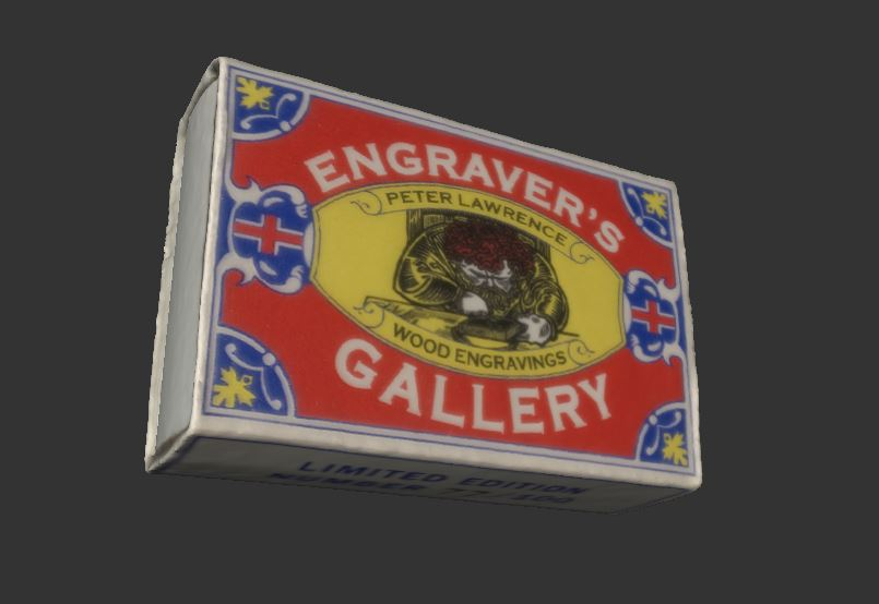 Matchbox art by Peter Lawrence, Engraver's Gallery
