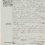 Mary Shelley, draft of Frankenstein