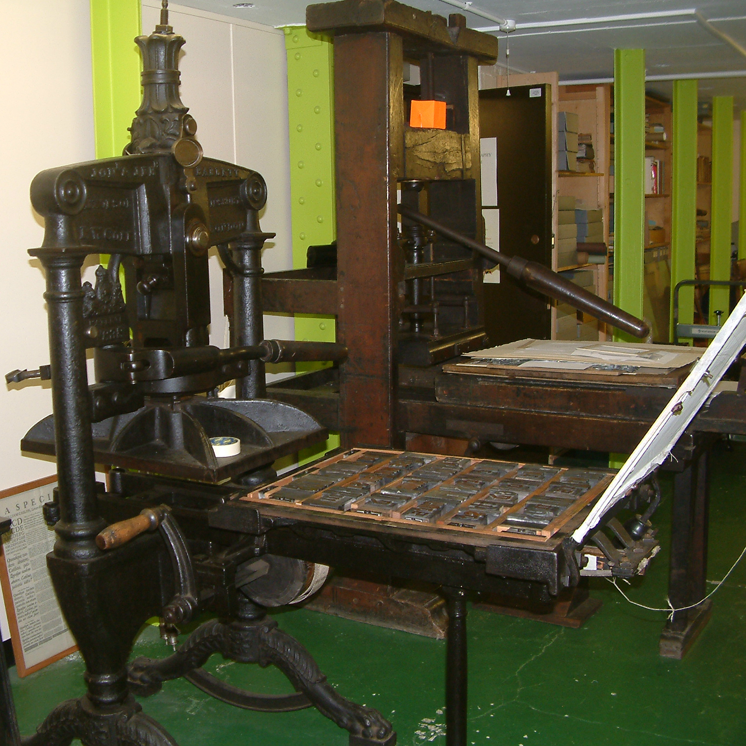 Press in the Bodleian Hand-Printing Workshop