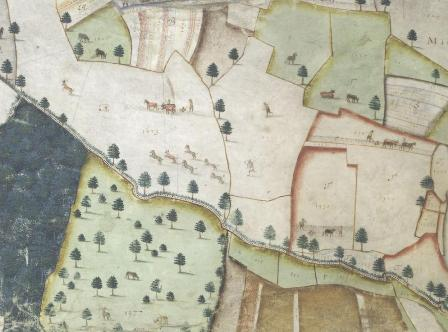 C1748 9 A Plat And Description Of The Whole Mannor Lordship Laxton