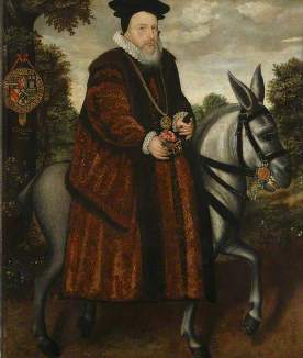 William Cecil (1520–1598), Baron Burghley  by Marcus Gheeraerts the younger (attributed to) [collections of the Bodleian Library]