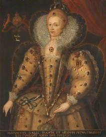 Portrait of Elizabeth I (1533–1603)  by Wilhelm Sonmans