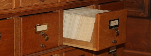The card index of literary correspondence, in Duke Humfrey's Library