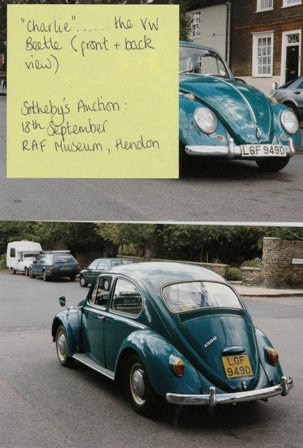 'Charlie' the green Beetle, auctioned at Sotheby's 18th September 1995