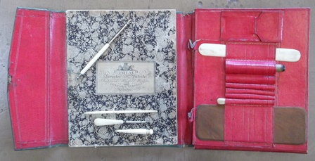 The manifold writer, including several styli and a notebook. Bodleian Libraries, Oxford University.