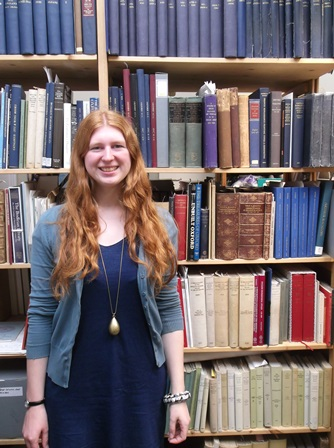 Sophie Ridley, winner of the 2013-14 Colin Franklin Book Collecting Prize
