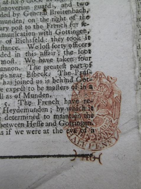 The Gazetteer and London Daily Advertiser. Number 9883. Thursday, December 18, 1760. Bodleian Johnson a.122