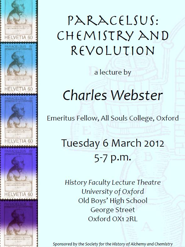 February 2012 bodleian history faculty library at oxford page 2 paracelsus lecture poster fandeluxe Choice Image