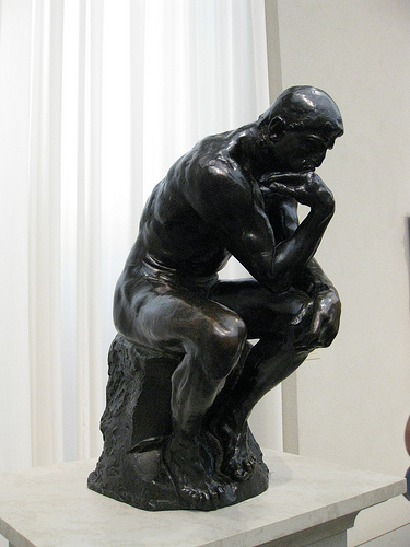 Rodin's Thinker sculpture