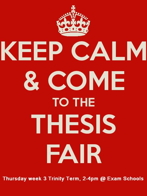 oxford history thesis fair Postgraduate study fair, london postgraduate study fair your phd thesis: how to plan university of oxford.
